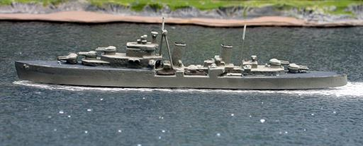 Secondhand Mini-ships Clydeside/Superior HMS Dido British AA cruiser in WW2 1/1200
