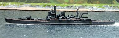 A 1/1200 scale second-hand model of IJNS Tone in dark grey with dark brown decks by Superior Models Inc. J308. This model is in reasonable condition but seems to have been fitted with some non-standard parts, see photograph.