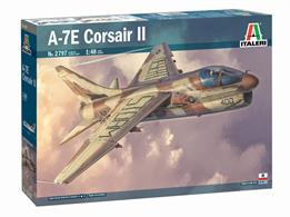 Italeri 2797 1/48th A-7E Corsair II USN Light Attack Aircraft Kit