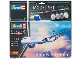 Revell 04952 1/144 Airbus A321 Neo Aircraft Kit Number of Parts 68 Length 309mm Wingspan 248mm