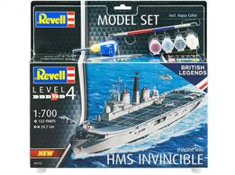 Revell 05172 1/700th HMS Invincible Falklands War Plastic KitNumber of Parts 122  Length 297mm