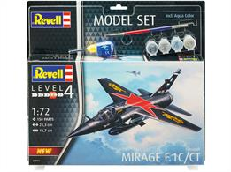Revell 04971 1/72nd Mirage F.1C Fighter Aircraft KitNumber of Parts 150  Length 213mm   Wingspan 117mm
