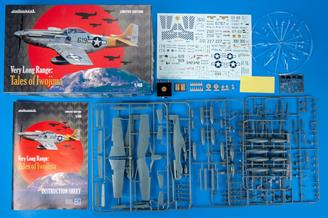 Limited edition kit of US WWII fighter P-51D in 1/48 scale. Focused on machines from 15th FG, 506th FG, 21st FG used for very long range missions plastic parts: Eduard marking options: 11 decals: Eduard PE parts: yes, pre-painted painting mask: yes resin parts: yes, wheels extra bonus: pin with emblem of 78th Fighter Squadron