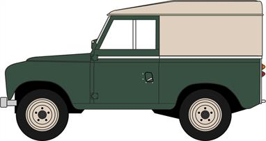 Oxford Diecast 43LR3S005 1/43rd Land Rover Series III SWB Hard Top Bronze Green
