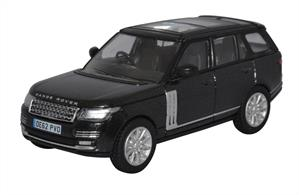 Oxford Diecast 76RAN006 1/76th Range Rover Vogue Santorini Black Prince William