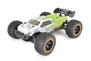 Get ready for some big r/c off road action from the pocket rocket Tracer Truggy from FTX. The perfect entry into a world of r/c fun, the Tracer features coil sprung shock absorbers with moultiple mounting points, double wishbone suspension and front universal driveshafts for smooth suspension movement while steering through the ruff stuff. Shaft driven 4WD and with geared differentials front and rear provide traction in all conditions.
