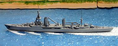 A 1/1250 scale second-hand model of Suffren modelled by Delphin D146. This model is in very good condition in a medium grey paint finish overall, see photograph.