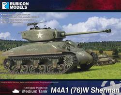 This kit builds a M4 Sherman tank fitted with the long barrel 76mm gun.Kit includes both early and late production T26 turrets, open or closed command and crew hatches and tank crew figures.