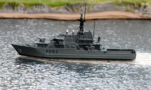 Albatros Alk307C HMS Mersey RN River Class Patrol Ship Waterline Model 1/1250