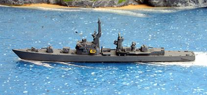 A 1/1250 scale second-hand model of JMSDF Takatsuki DD164 by Delphin D95. This model is in very good condition, see photograph.