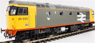 Class 26 Railfreight Red Stripe 26025 with Orange Cantrail Stripe Eastfield Dog Logo Weathered
