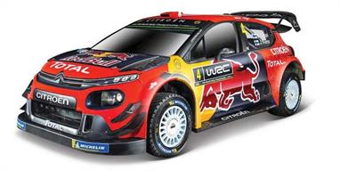 Burago B18-41053 1/32nd Citroen C3 WRC 2019 Monte Carlo Rally Diecast Model