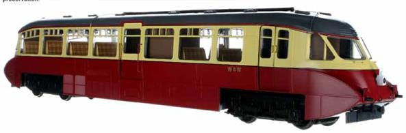 Highly detailed model of the GWR streamlined express railcars from the 1936 batch, numbers 8-17, built by the Gloucester RCW.This model is finished in British Railways crimson & cream livery.DCC Sound model fitted with ESU decoder with LegomanBiffo GWR railcar sound files.Decorated Prototype Sample Shown For Illustration Only Expected in shops End Q1 2021