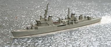 A 1/1250 scale second-hand model of the Italian post-war destroyer San Giorgio by Hai 154. This model is in reasonable condition in light grey overall, see photograph.
