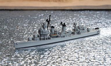 A 1/1250 scale second-hand model of the post-war West German destroyer Z-1 of 1968 by Albatros SM Alk58. This model is in excellent condition, see photograph.