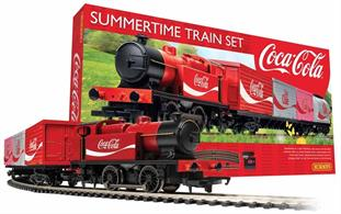 Resplendent in a Coke® Red livery, this officially licensed train set for the adult collector offers an almost timeless iconic interpretation of the Coca-Cola® brand, representing the logistics involved in bringing Coke®, by rail, from the factory to the doorstep. The set is an ideal starter layout and offers the model railway enthusiast a brilliant and unique train set with an engine & wagons featuring the distinctive Coca-Cola® design. It includes a good starter layout that can also be enjoyed by adults new to the hobby and easily extended later.