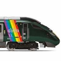 Class 800/0 No. 800008 was delivered to Great Western Railway (GWR) on the 7th of June 2018. The train featured a specially designed livery featuring the Pride flag on both driving cars. The livery was introduced in-order to mark the summer of Pride events taking place across the UK and to celebrate the diverse communities across the GWR network.
