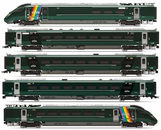 Hornby R3872 GWR, Class 800, Trainbow Train Pack - Era 11 OO