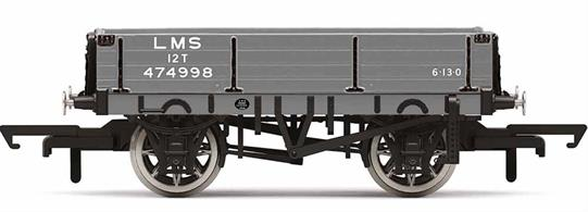 This three-plank wagon belonging to LMS is based upon one built in the second half of the 1930s. The wagon could be used to transport a variety of goods and is typical of the freight that could be found on Britain's railways throughout much of the 20th century.