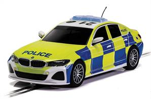 A familiar, if not always welcome, sight to many motorists in the UK the BMW 330i police car, with working light and siren, is a machine sure to set the heart pulsing! Be it appearing in your rear view mirror lights flashing or tearing away to the next emergency it is a high powered machine that runs all the lights!