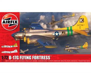 Airfix A08017B 1/72nd B-17G Flying Fortress WW2 American Bomber KitNumber of Parts 245