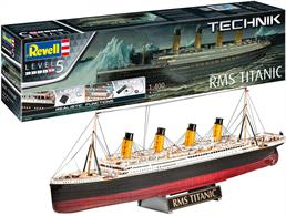 Revell 00458 1/400th Technik RMS Titanic Ship KitLength 67mm   Number of Parts 262