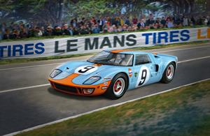 Revell 07696 1/24th Ford GT40 Le Mans 1968 Race Car Kit Limited EditionNumber of Parts    Length mm   Width mm   Height mm