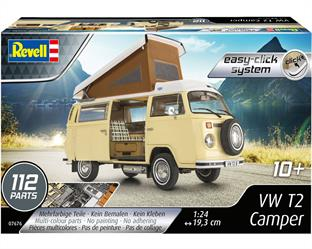 Revell 07676 1/24th VW T2 Camper Easy-Click KitNumber Of Parts   Length mm