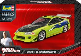 Revell 07691 1/24th Brian's 1995 Mitsubishi Eclipse (Fast&Furious) Car KitNumber Of Parts   Length mm