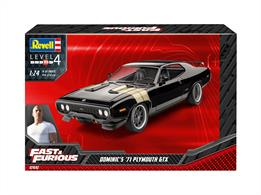 Revell 07692 1/24th Dominic's 1971 Plymouth GTX (Fast&Furious) Car KitNumber Of Parts   Length mm