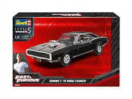 Revell 07693 1/24th Dominic's 1970 Dodge Charger (Fast&Furious) Car KitNumber Of Parts   Length mm
