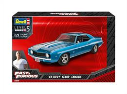 Revell 07694 1/24th 1969 Chevy Camaro Yenko (Fast&Furious) Car KitNumber Of Parts   Length mm