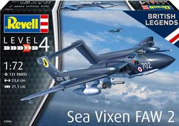 Revell 03866 1/72nd British Legends Sea Vixen FAW 2 70th Anniversary KitGlue and paints are required