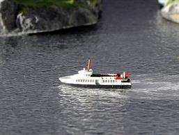 A 1/1250 scale waterline model of Argyll Flyer a Calmac ferry by Rhenania Junior Miniaturen RJ229