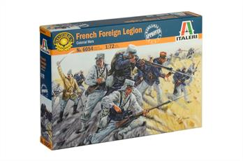 Italeri 6054 French Foreign Legion Figures50 figures per box in 15 different posesPaint required but not included