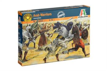 Italeri 6055 Arab Warrior Pack50 figures per box in 15 different posesPaint Required Not Included