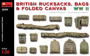 BRITISH RUCKSACKS, BAGS & FOLDED CANVAS WW2