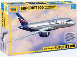 Zvezda 7009 1/144th Sukhoi Superjet 100 Civil Airliner KitNumber of Parts 47    Length 208mm