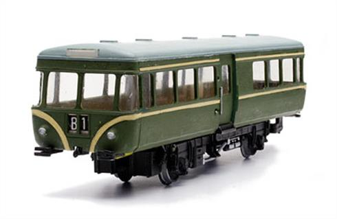 Dapol OO BR Railbus Kit C47Moulded in grey plastic.Glue and paints are required to assemble and complete the model (not included)