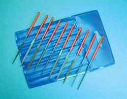Set of 10 miniature needle files in a plastic wallet holder. File length 100mm overall, cutting faces 40-45mm length.