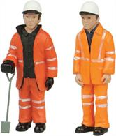 Bachmann 47-402 0 Gauge Lineside or Road Workers Pack BPack of 2 track or road workers in hi-visibility clothing.