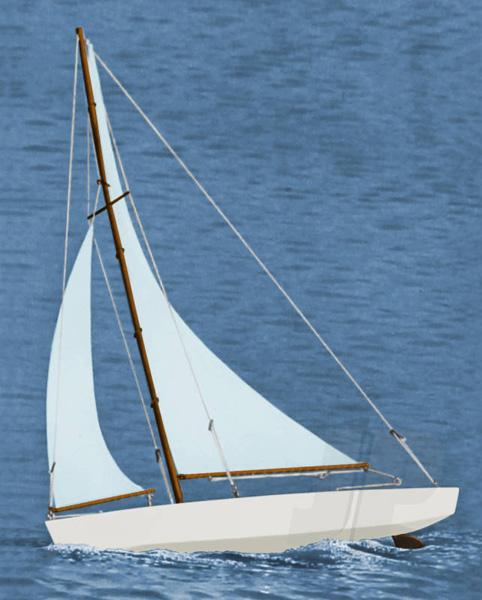 Dumas Ace Racing Sloop Wooden Yacht Kit Length 17in DU1102