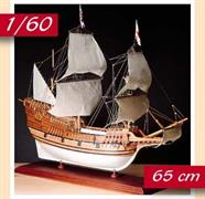 The kit includes laser cut frames for keel & bulkheads, and exotic wood strip for hull planking. Also included is the wooden deck planking, masts and spars,��resin and wooden fittings, cloth for the sails and flags. The instruction booklet is very detailed, taking you through every step of construction.Scale 1:60, Length: 650mm.Skill Level 3