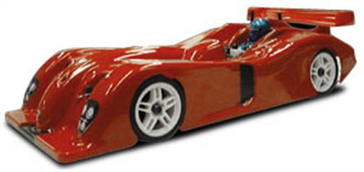 Parma 10137 Panoz Open Roadster Alms Bodyshell with Wing 1/10