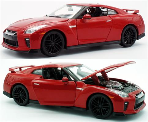 Maisto 1/24 Nissan GT-R 2017 18-21082Diecast model of a 1:24 scale Nissan GT-R 2017 that has been recreated in meticulous detail.
