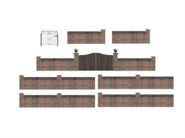 Scenecraft 44-541 00 Gauge Walls & Gates - VariousA pack of various walls and gates4.5mm x 16mm