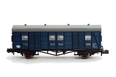 The Southern Railway 4-wheel parcels vans survived until the early 1980s, many receiving BR rail blue paint during overhauls.Though many of these vans had by then been reduced to departmental duties some were still listed in the revenue service fleet and the departmental vans were often used for distributing BR stores through the network of daily parcels trains.