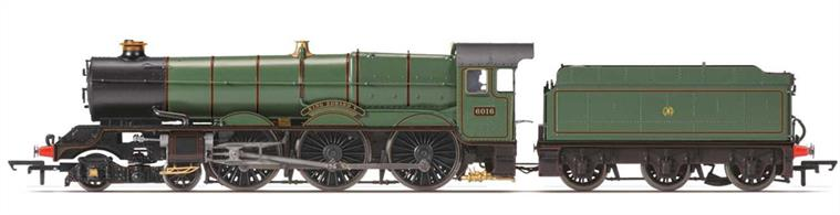 Hornby Railways OO Gauge R3408 GWR King Class 4-6-0 6016 King Edward V GWR Lined Green Shirtbutton Logo