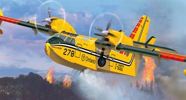 Revell 1/72 Canadair Bombadier CL-145 Flying Boat Kit 04998Glue and paints are required