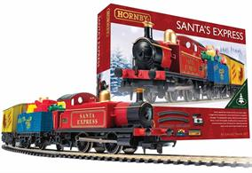 Santas Express train set delivery your presents this Christmas!Santa's special train includes his very own steam engine, a wagon full of presents and a closed van in which he keeps his presents. The spritely little engine, with its colourful seasonal livery, is more than capable of pulling such an important train around the base of your Christmas tree, delivering seasonal cheer on the oval of track included in this set.